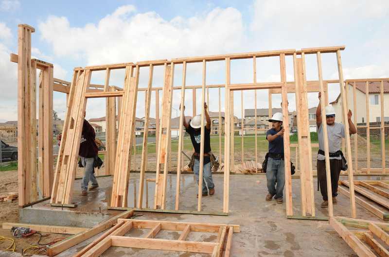 wooden house framing