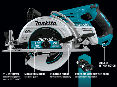 Makita 18V XSR01PT Cordless Circular Saw
