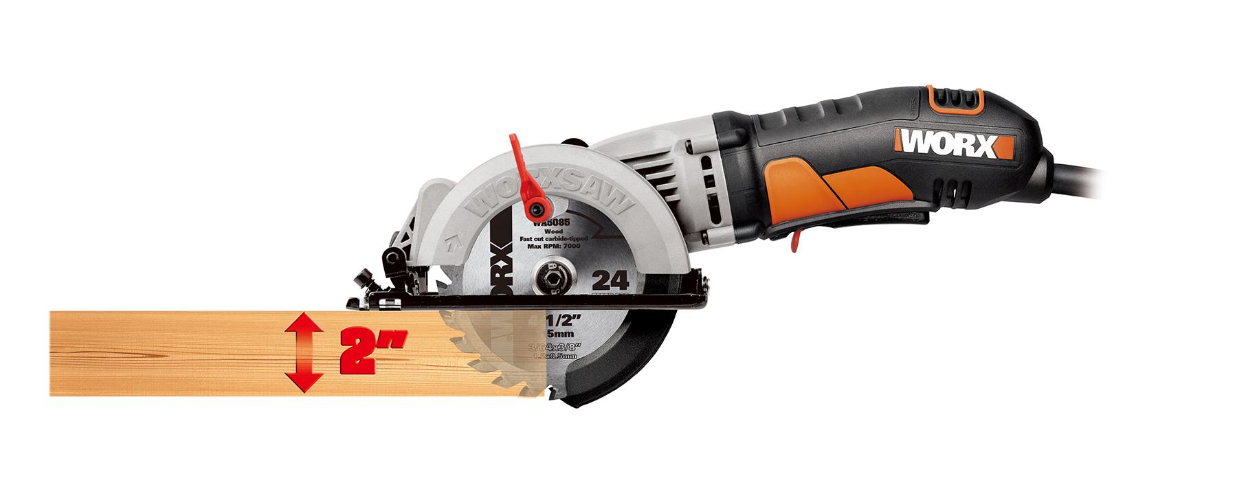 worx corded compact circular saw