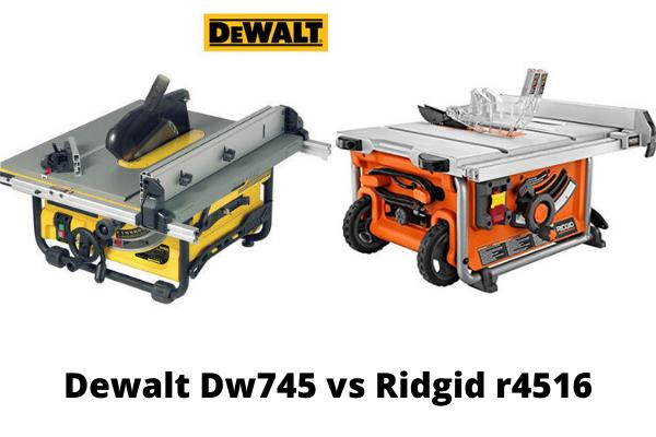 Dewalt Dw745 vs Ridgid r4516