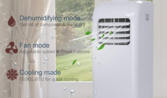 Best 10000 BTU Portable Air Conditioner & Dehumidifier Room Size