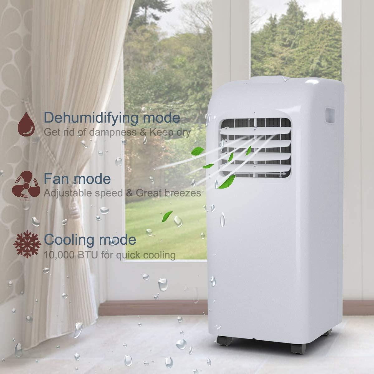 10000 btu portable air conditioner costway