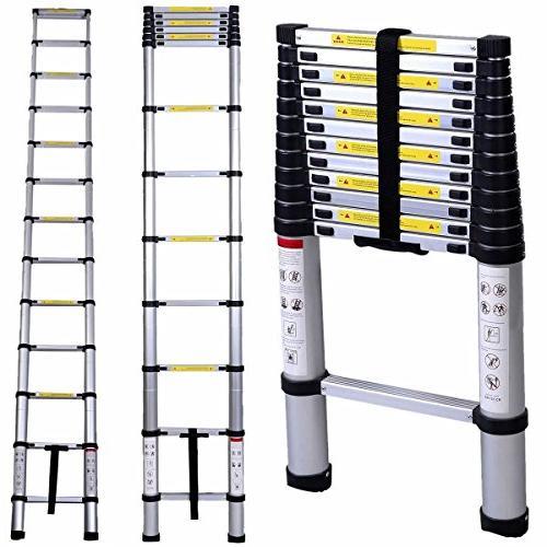 Luisladders Aluminum Telescoping Telescopic Extension Ladder