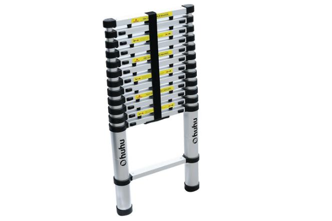 Ohuhu 12.5 FT Aluminum Telescopic Extension Ladder
