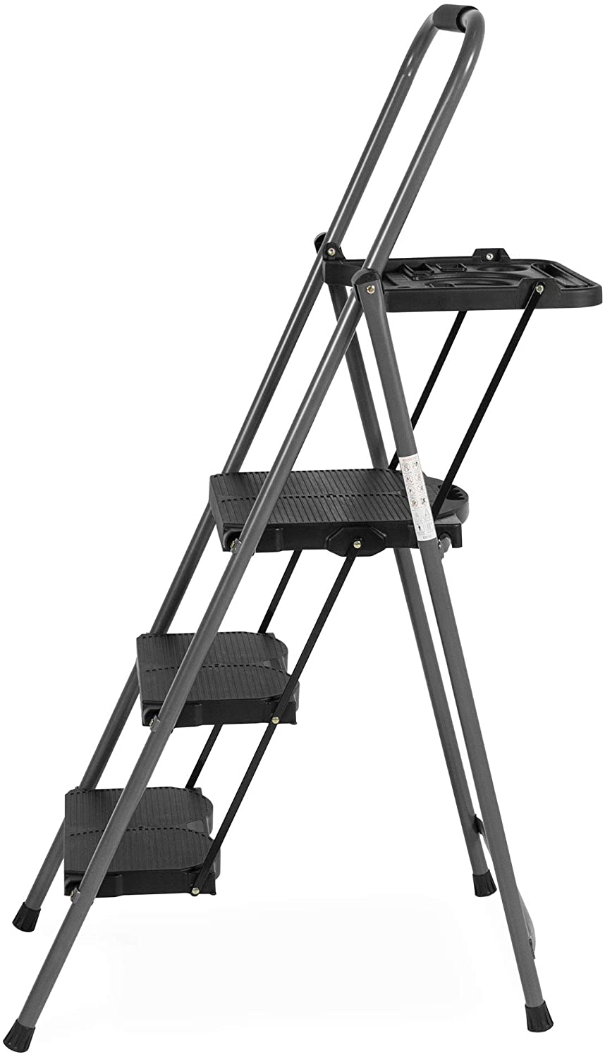 step ladder with paint tray