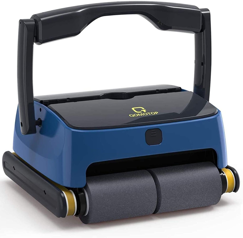 QOMOTOP Robotic Pool Cleaner, Automatic Wall-Climbing